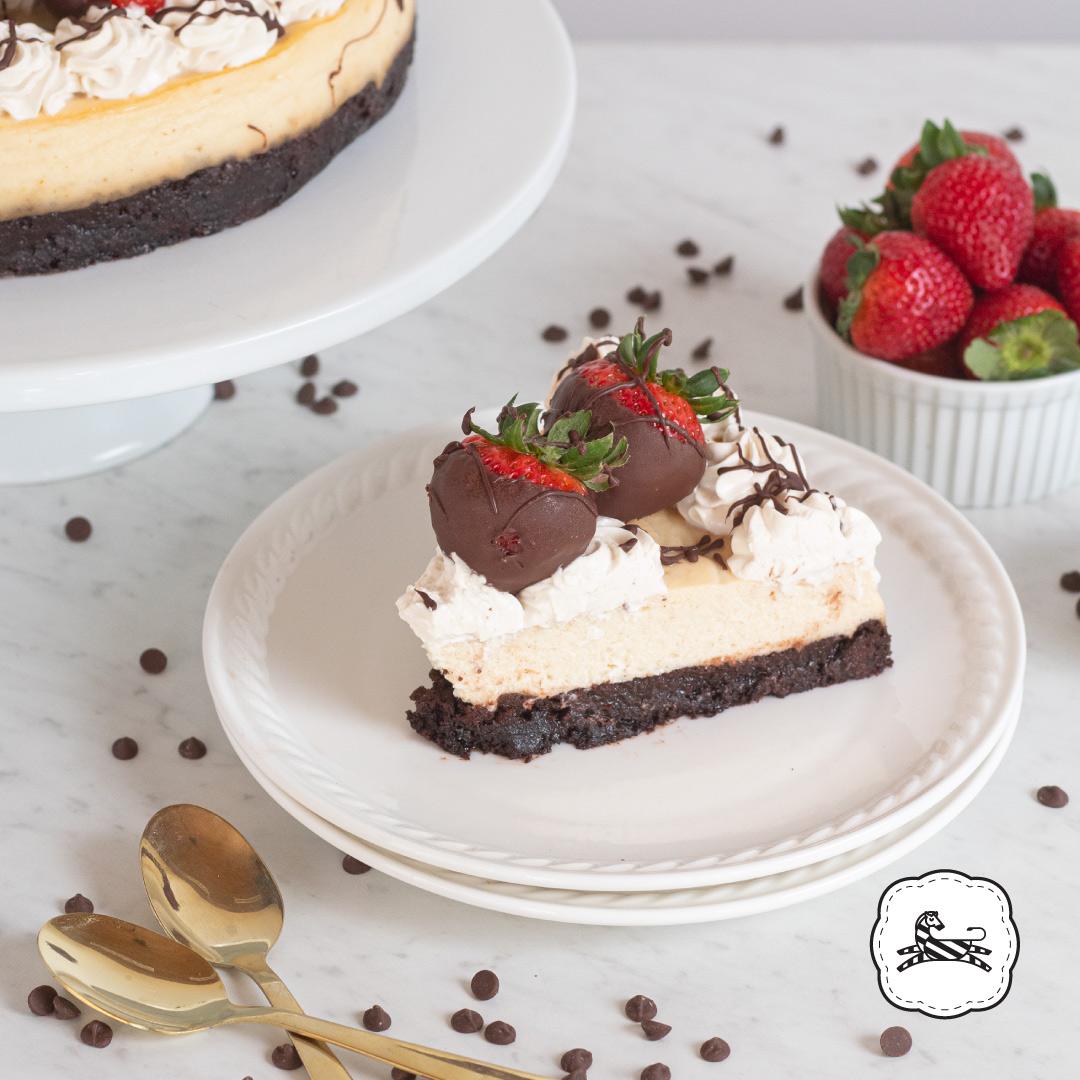 Sucrée - Los Pasteles de Luzma - Cheescakes - Brownie Cheescake con Fresas
